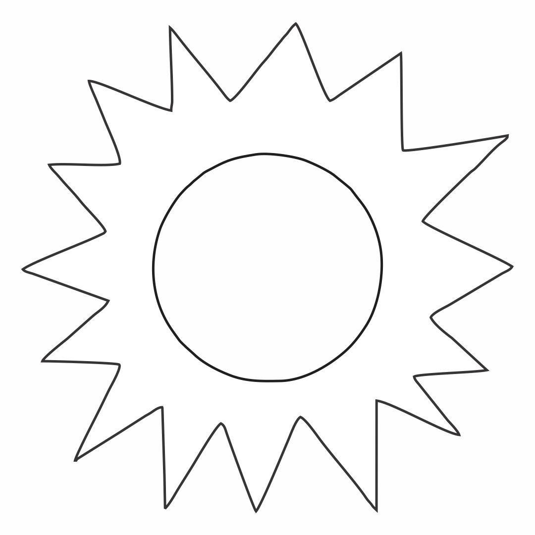 Printable Sun Cut Out Templates
