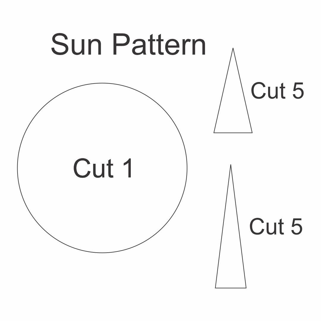 Printable Sun Pattern