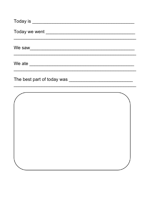 Free Printable Travel Journal Templates for Kids