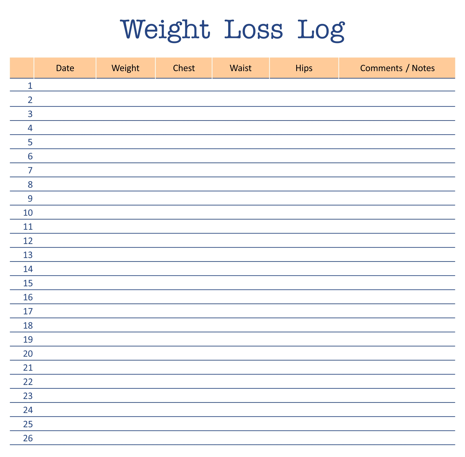 8 best images of printable weight loss log weight loss for Weight loss record template