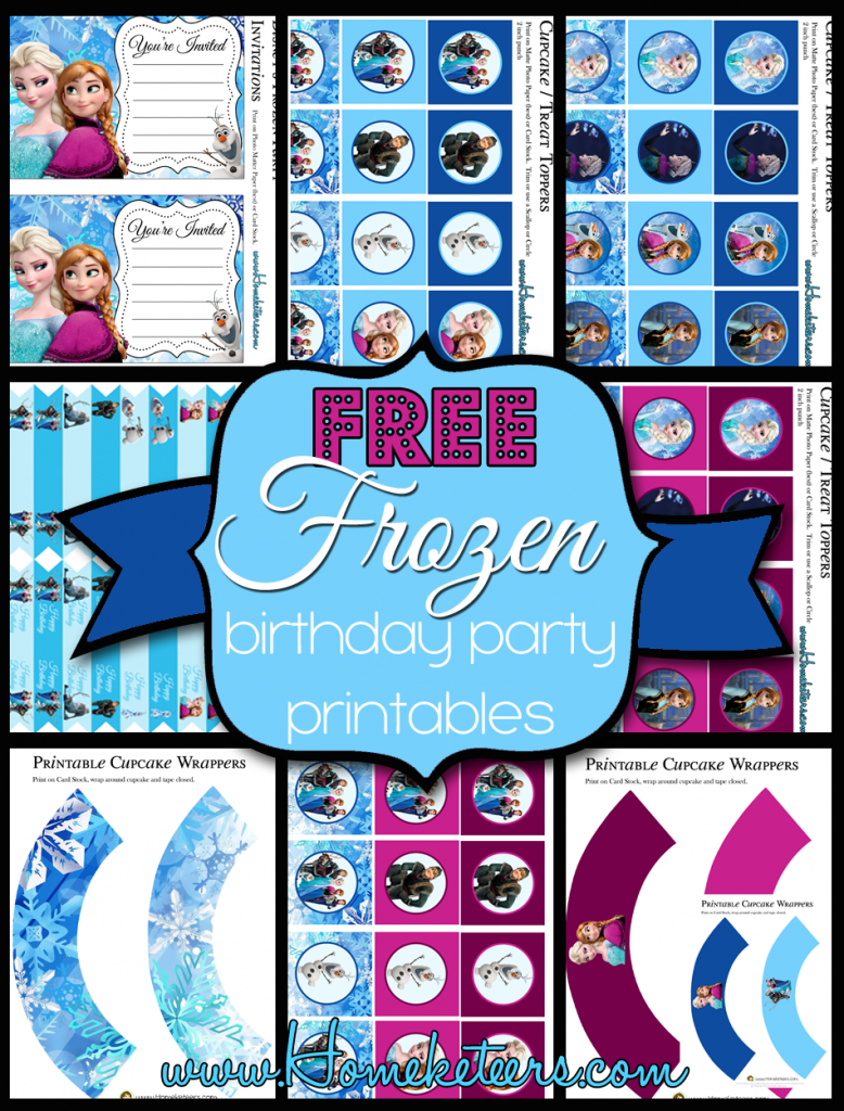 6 Images of Frozen Birthday Party Printables