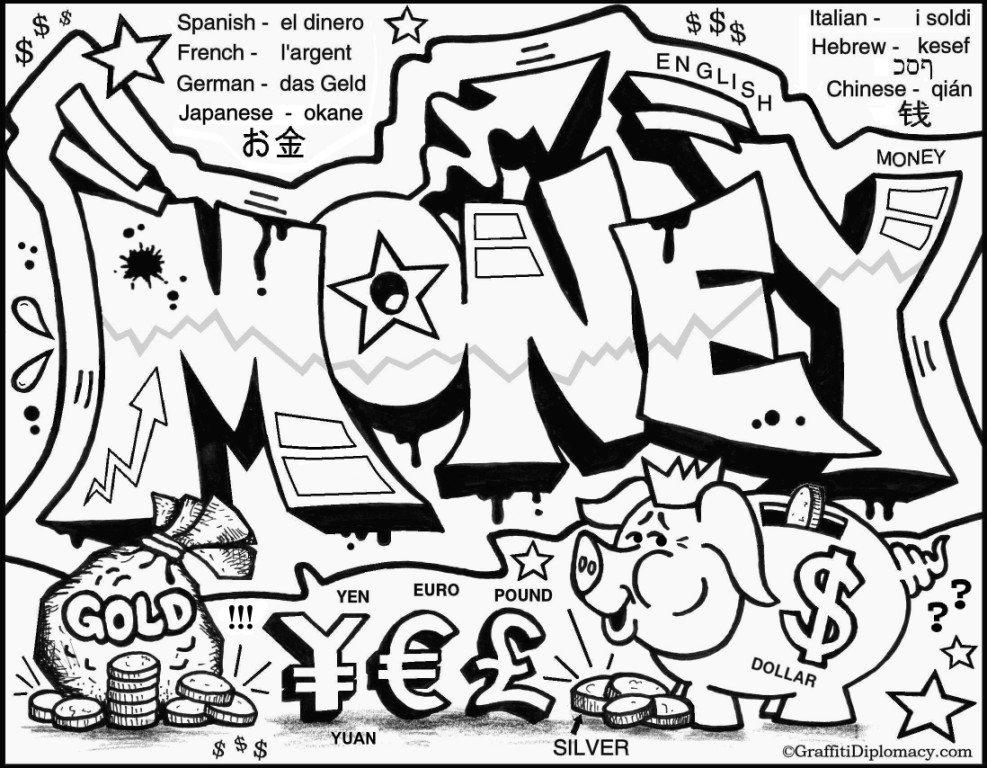 5 Images of Free Printable Graffiti Coloring Pages