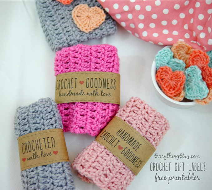 8 Images of Free Printable Labels For Handmade Crochet