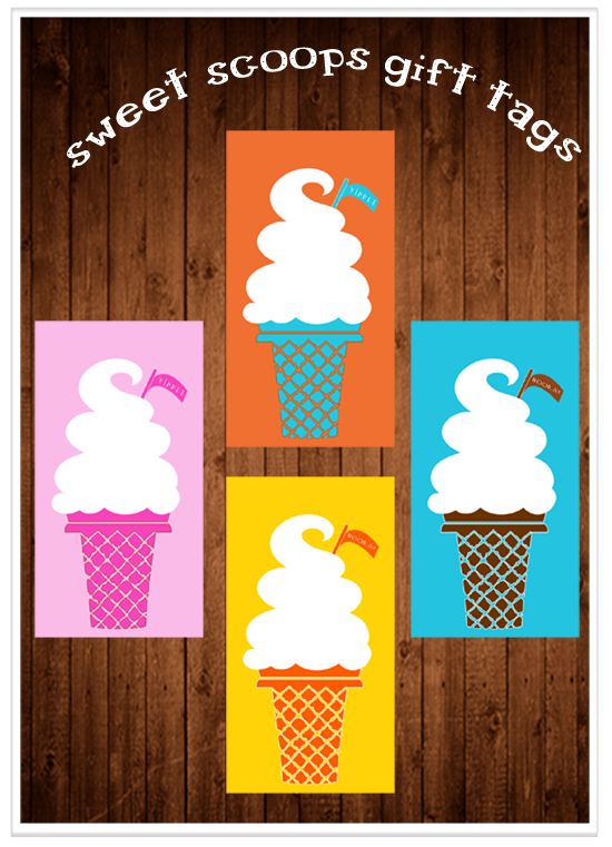 7 Images of Ice Cream Treat Tags Printable