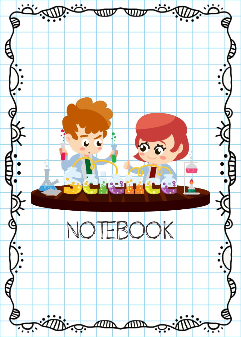 Kids Science Journal Cover Printable