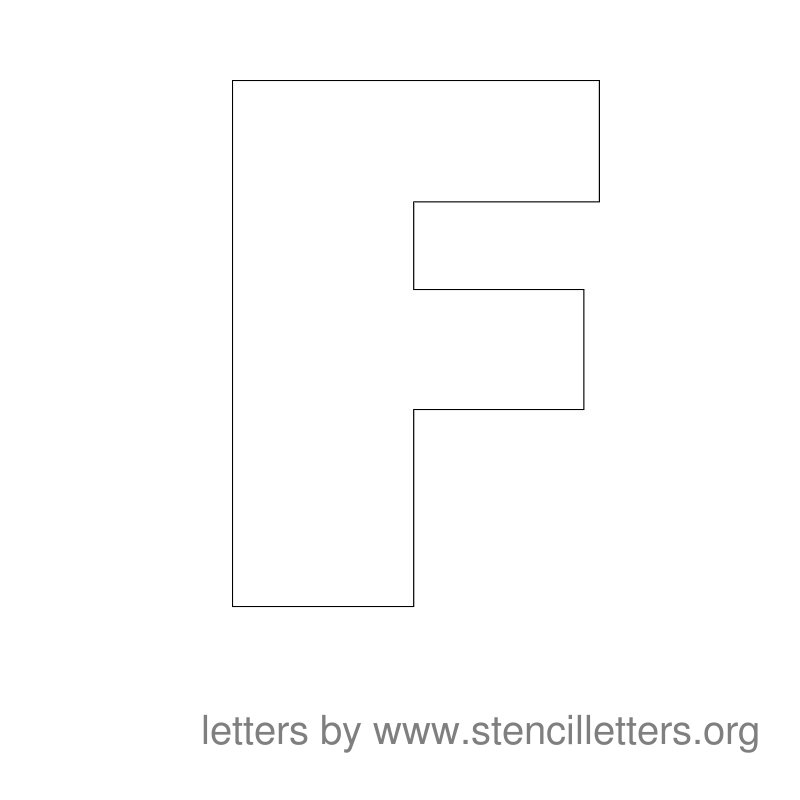 6 Images of Large Printable Letter Stencils F