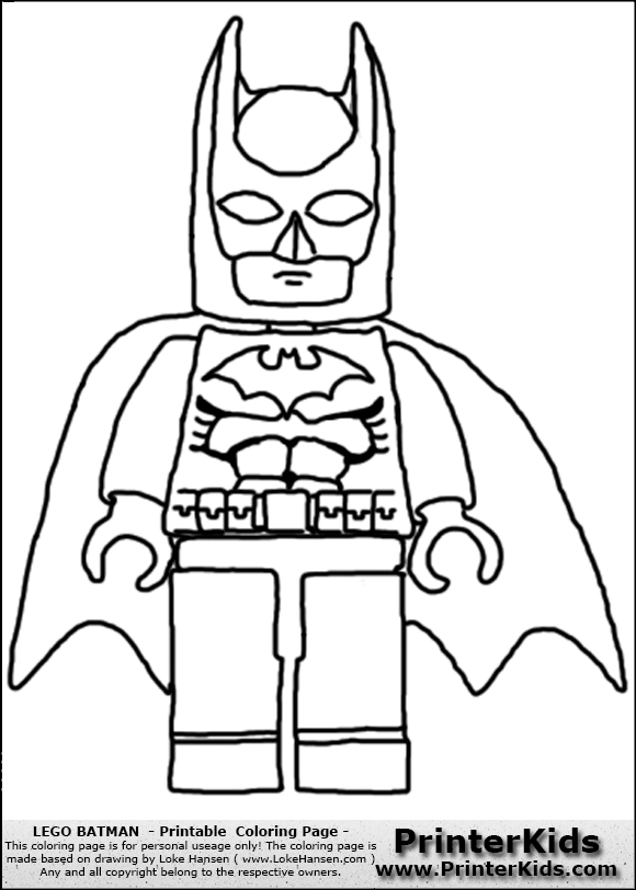 9 Images of LEGO Batman Coloring Printables