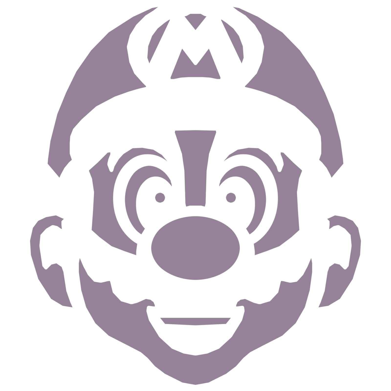 5 Images of Free Printable Mario Bros Stencil