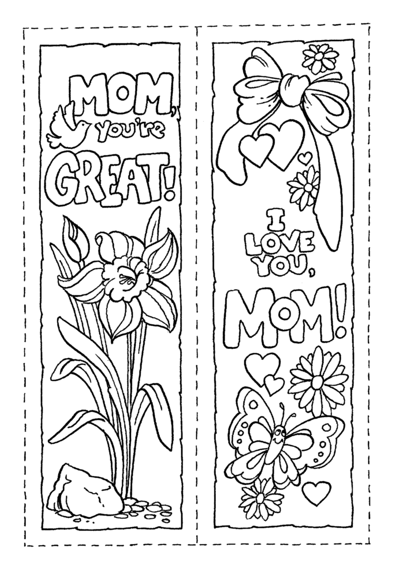 7 Images of Day Mother Printable Bookmarks Template