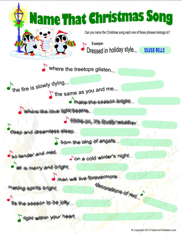 8 Images of Name That Christmas Song Printable