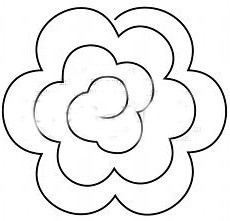 7 Images of Felt Rose Template Printable
