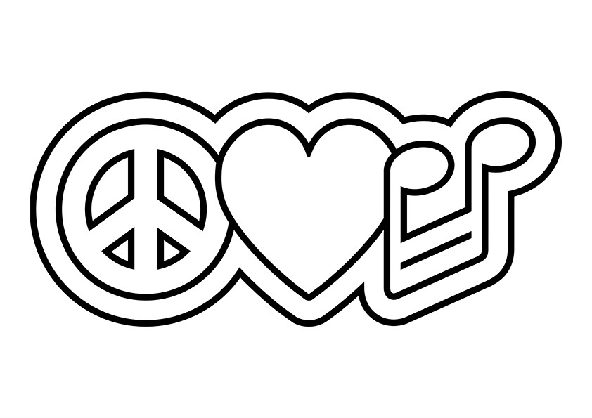 peace and love coloring pages - 7 best images of peace and love coloring pages printable