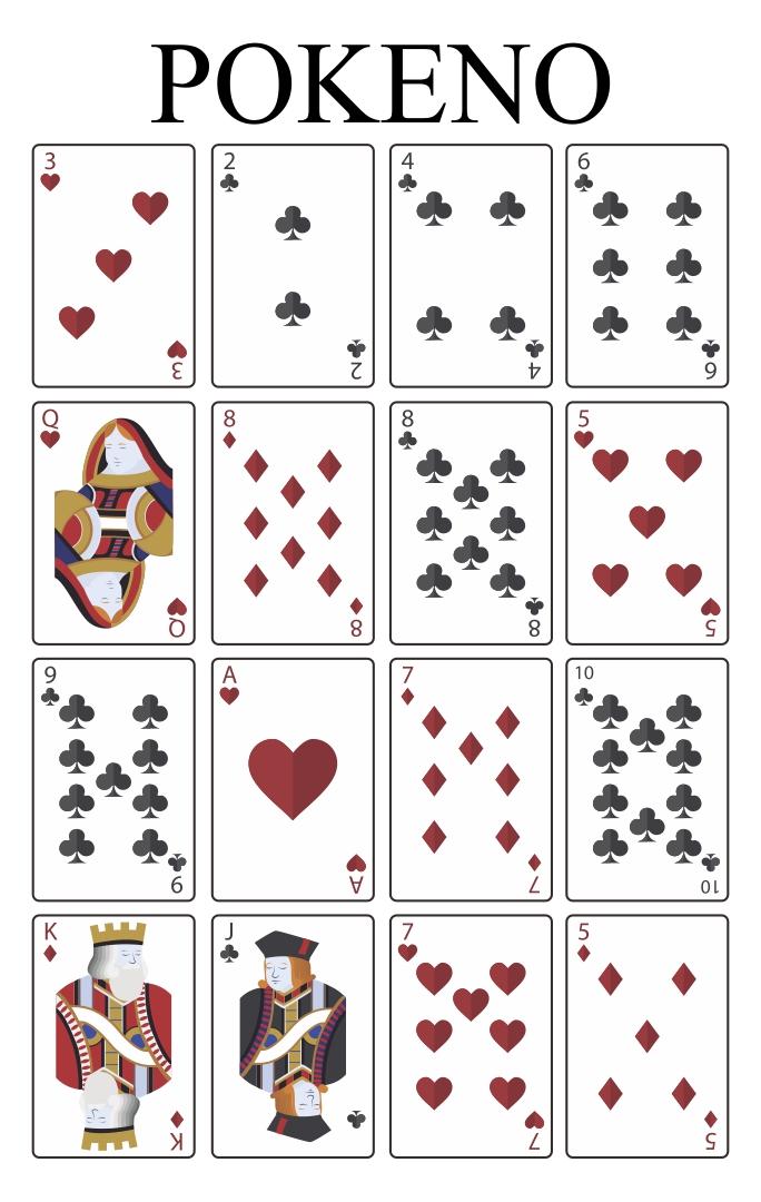 Pokeno Board Game Cards