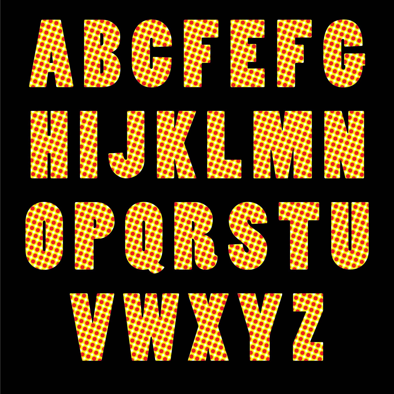 Polka Dot Alphabet Letters