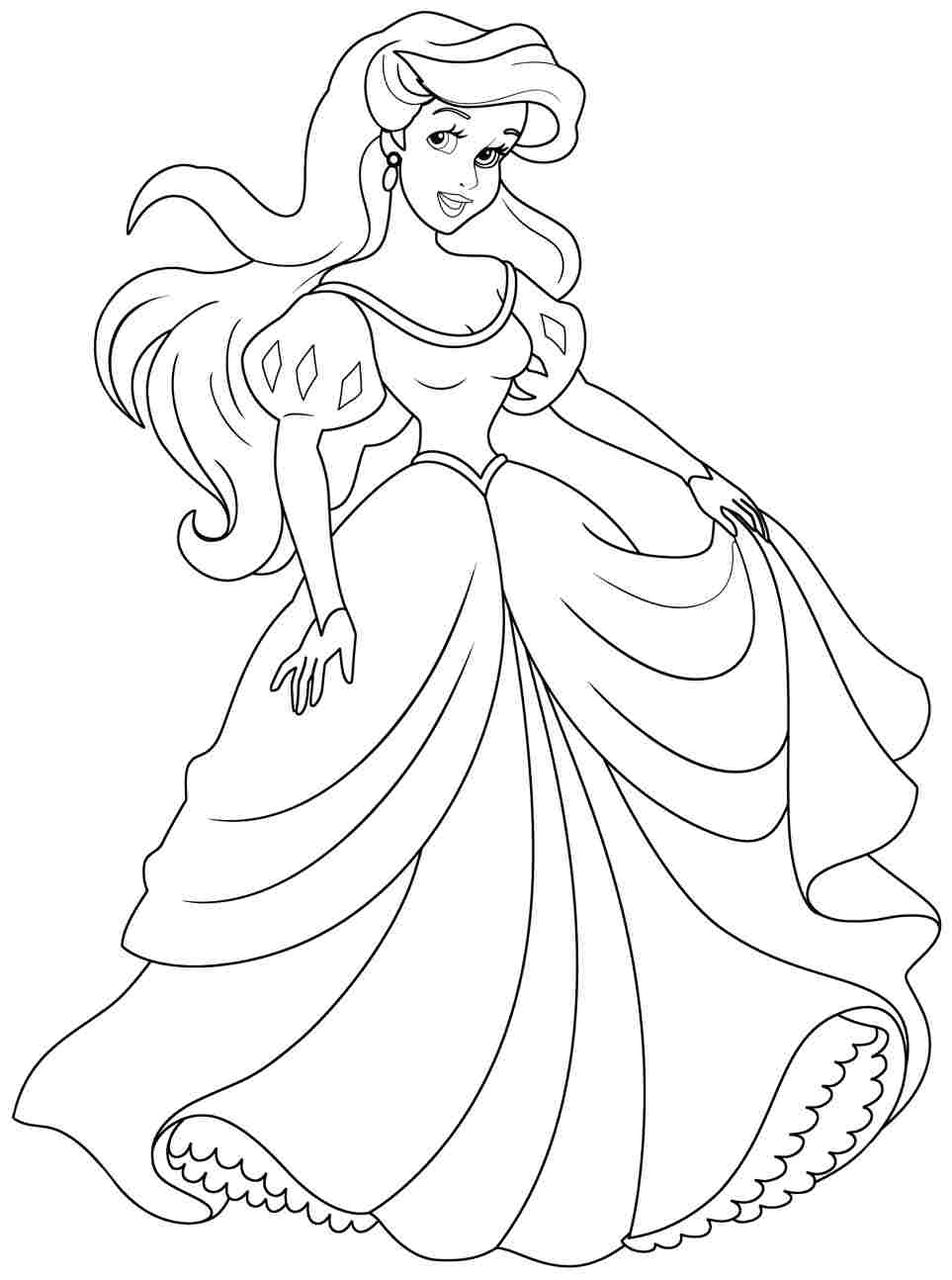 Princess Ariel Coloring Pages Printables