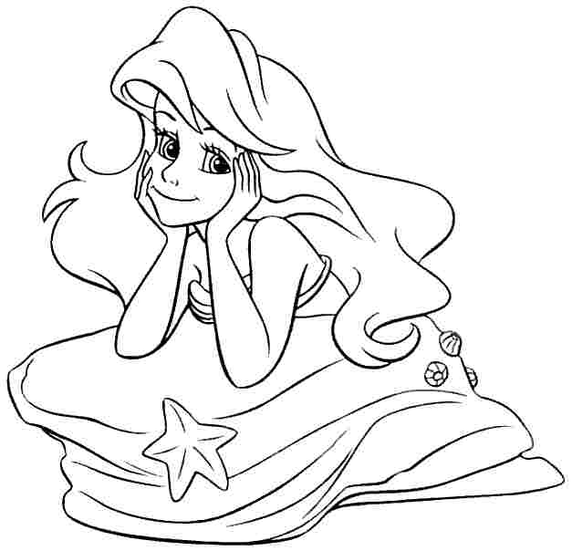 Princess Ariel Coloring Pages to Print