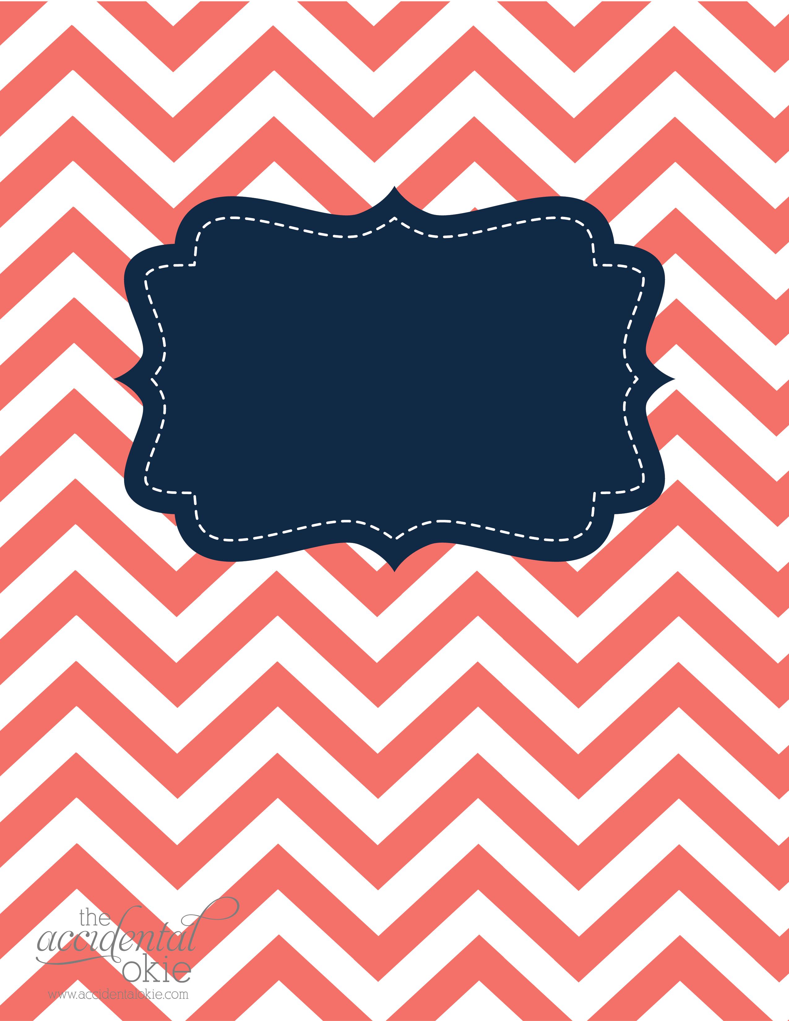 Printable Binder Covers Design Template