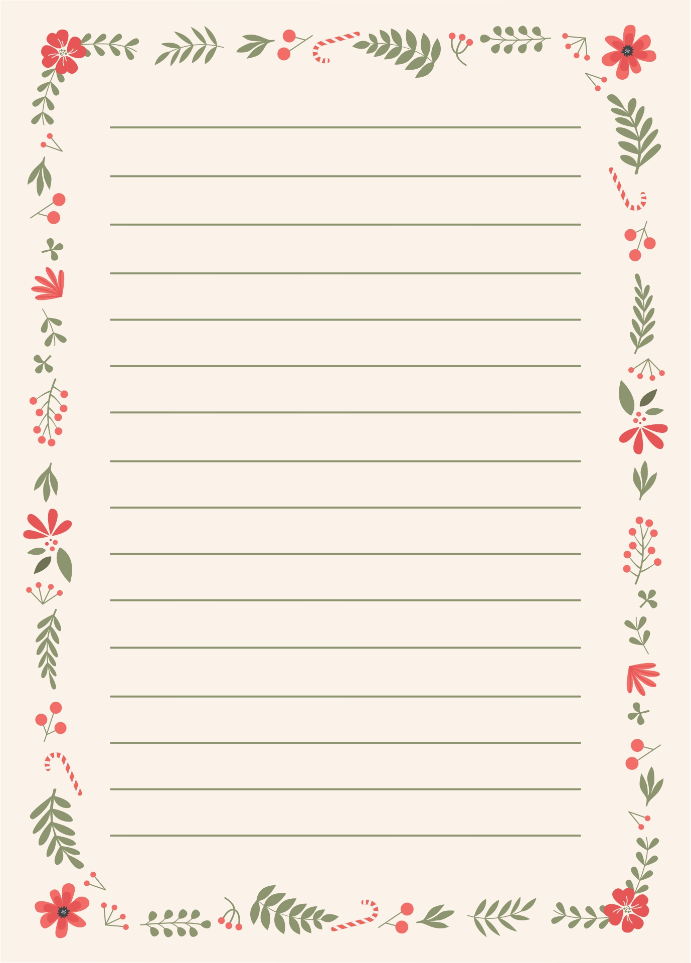 9 Images of Printable Holiday Letterhead Paper