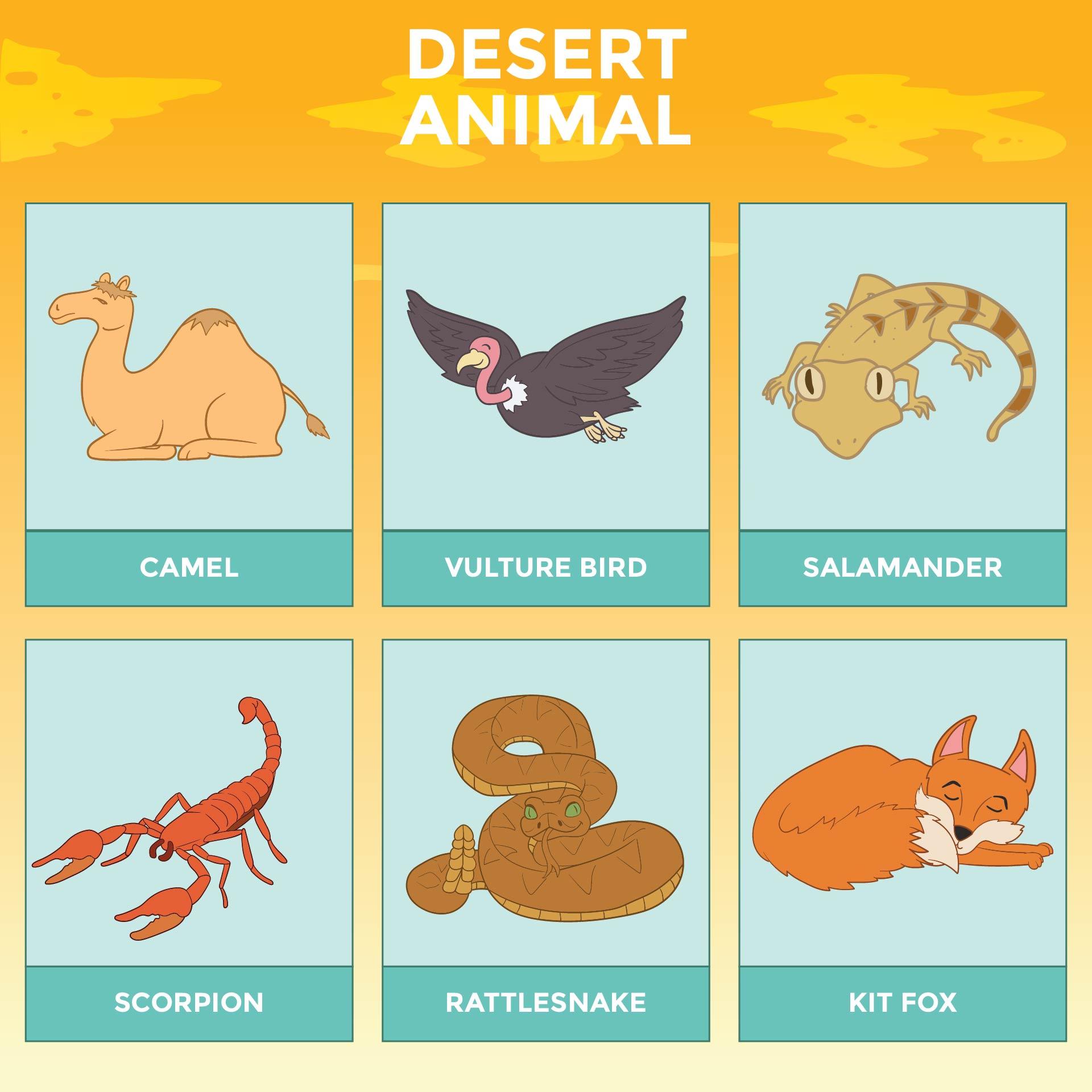 Printable Desert Animal Habitat