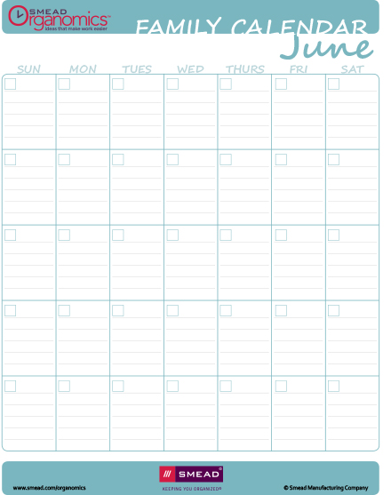 6 Images of Family Calendar Printable