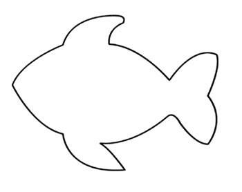 4 best images of fish template printable large printable for Fish mouth template