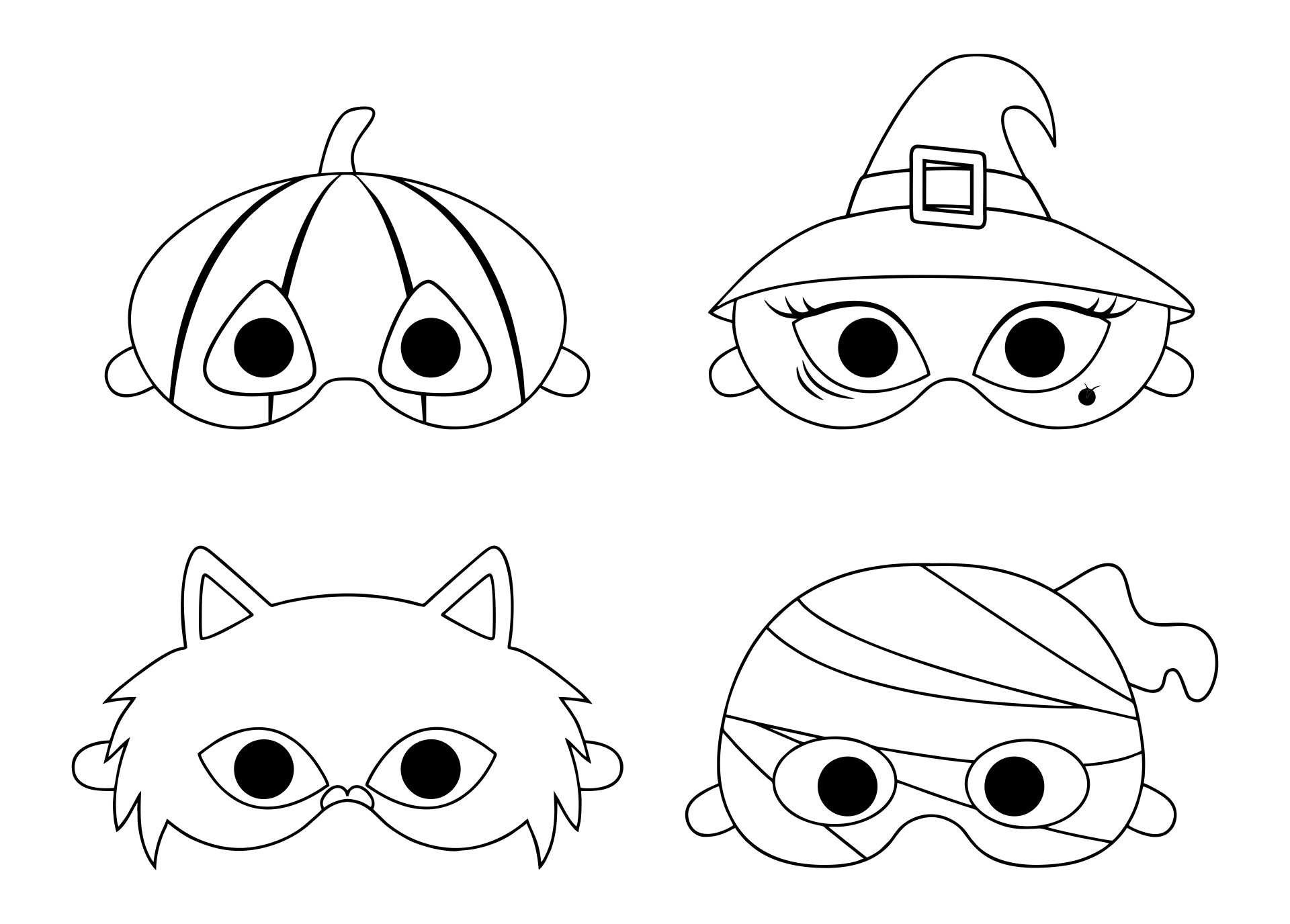 Printable Halloween Arts and Crafts for Kids