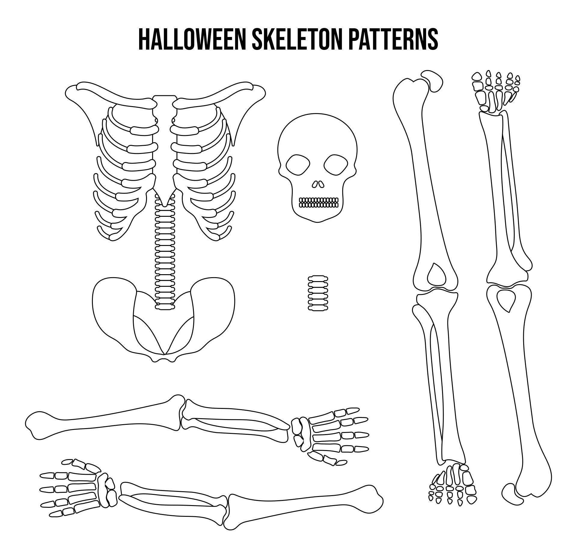 Printable Halloween Skeleton Patterns