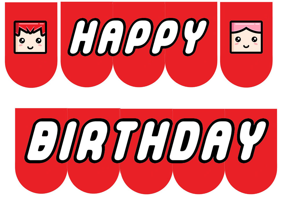 8 Images of Happy Birthday Banner Printable PDF