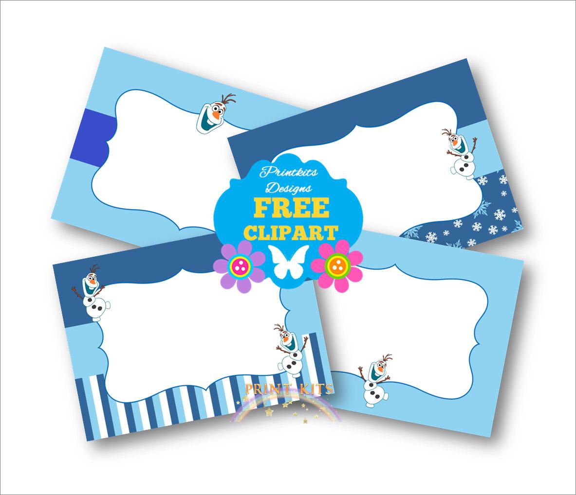 Olaf Free Printable Thank You Tags