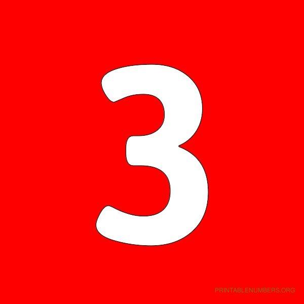 Printable Number 1 Red