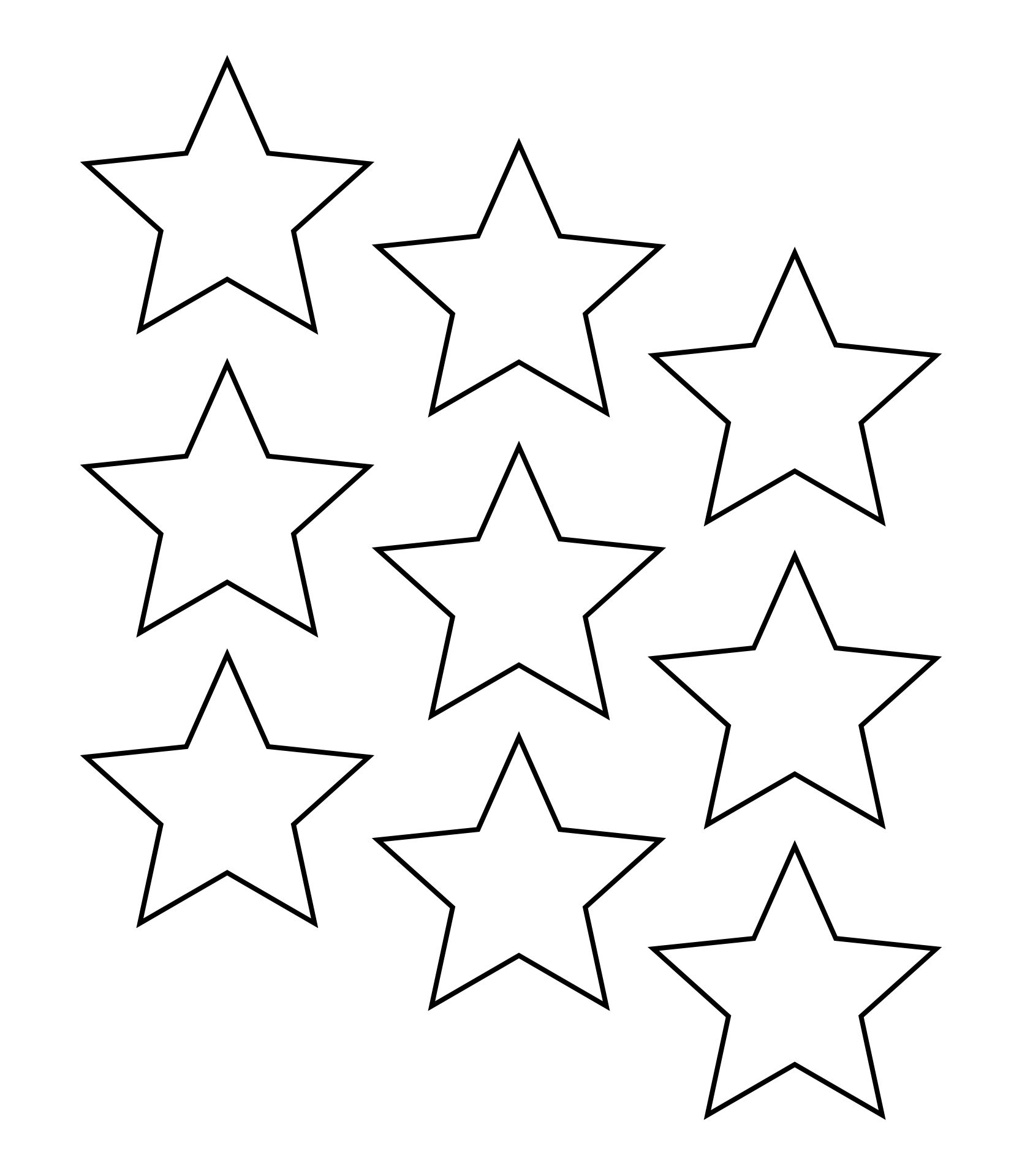 Printable Star Shape Cut Out