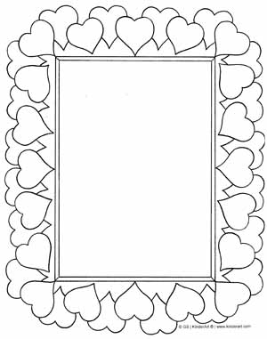 5 Images of Frame Valentine Printables