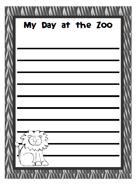 Zoo paper write and draw