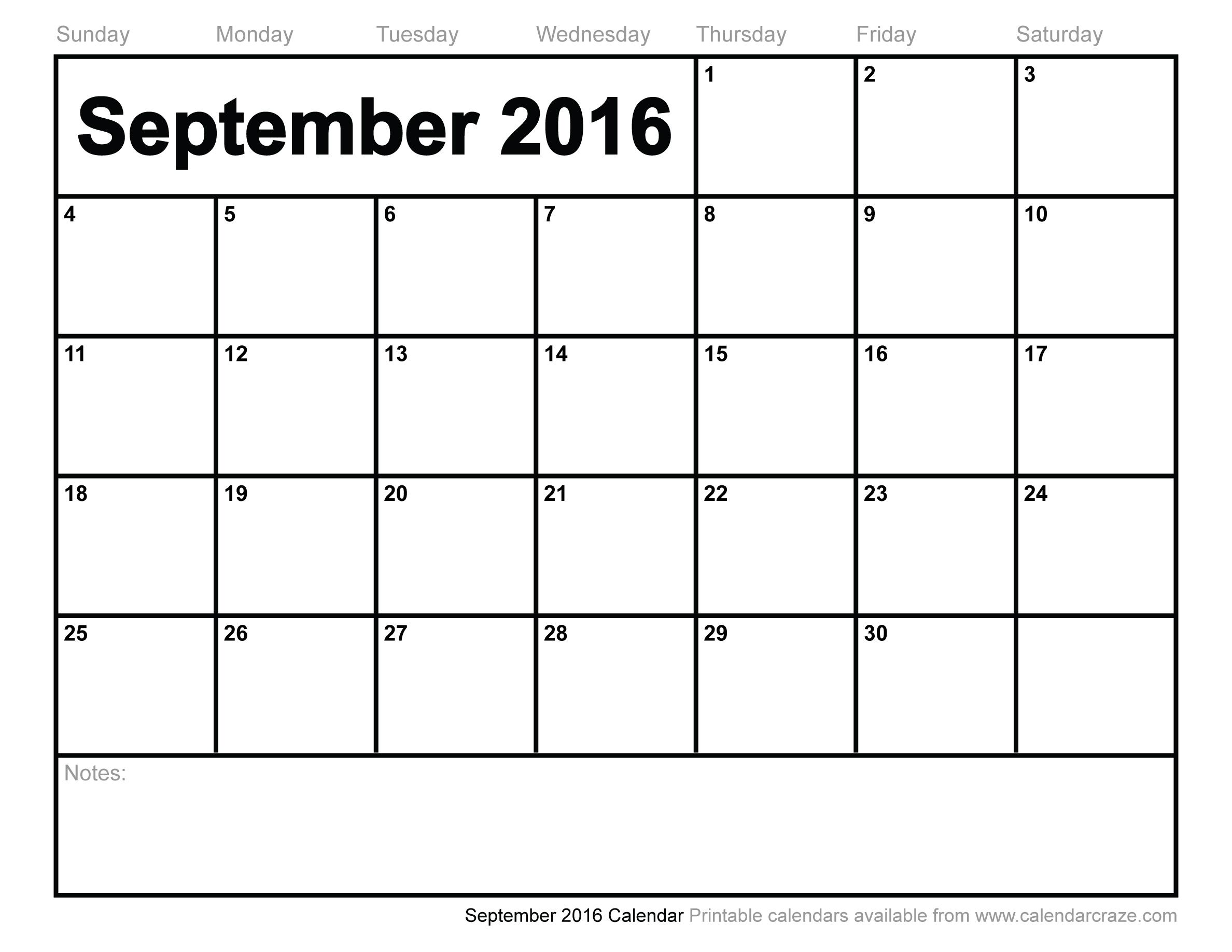 8 Images of September Calendar Printable
