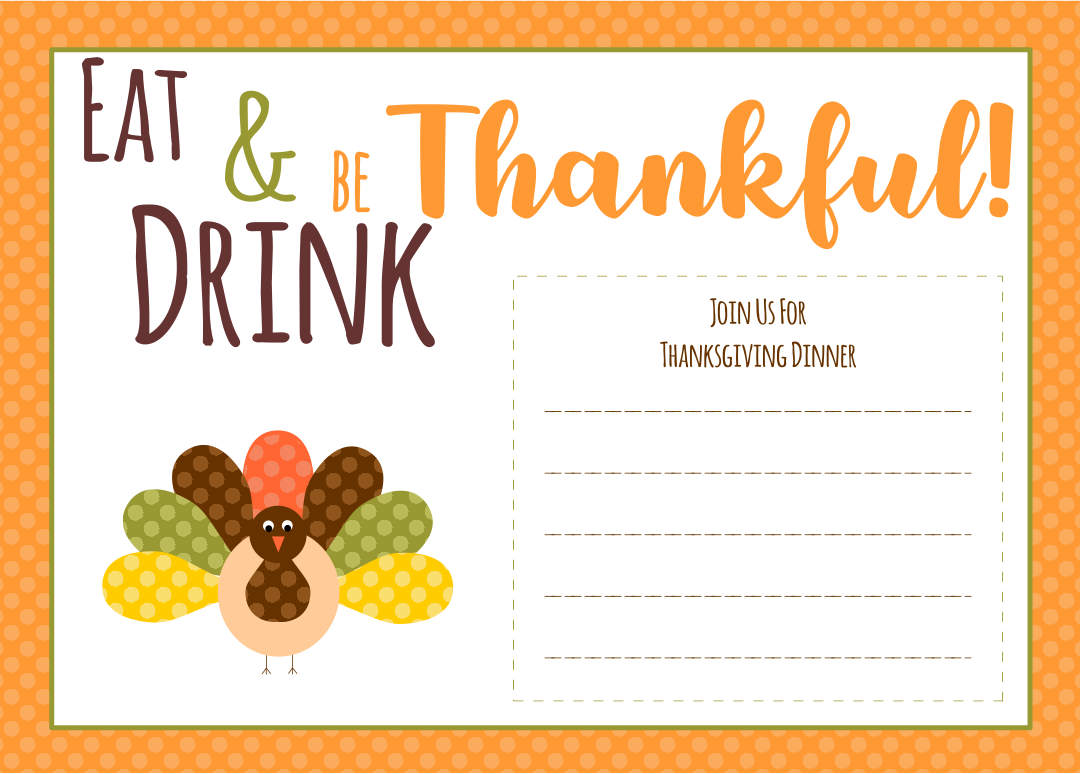 Thanksgiving Dinner Flyer 10 best images of free printable ...