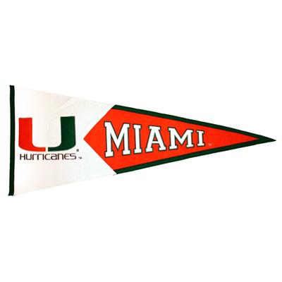 University of Miami College Pennant