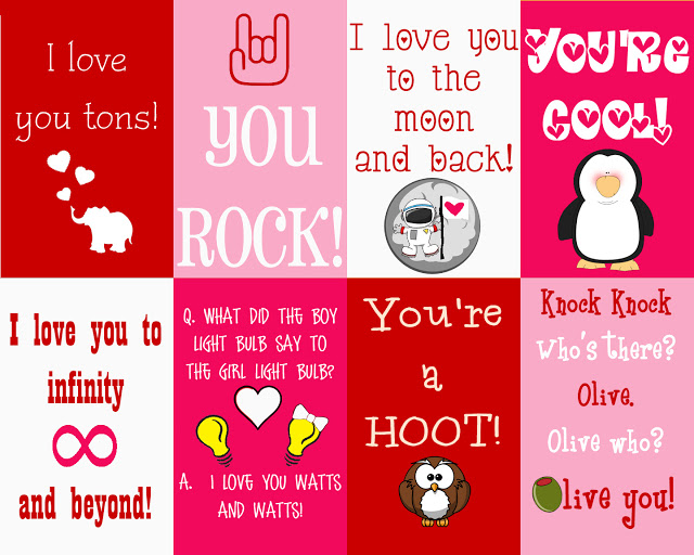 6 Images of Valentine's Day Printable Note Cards