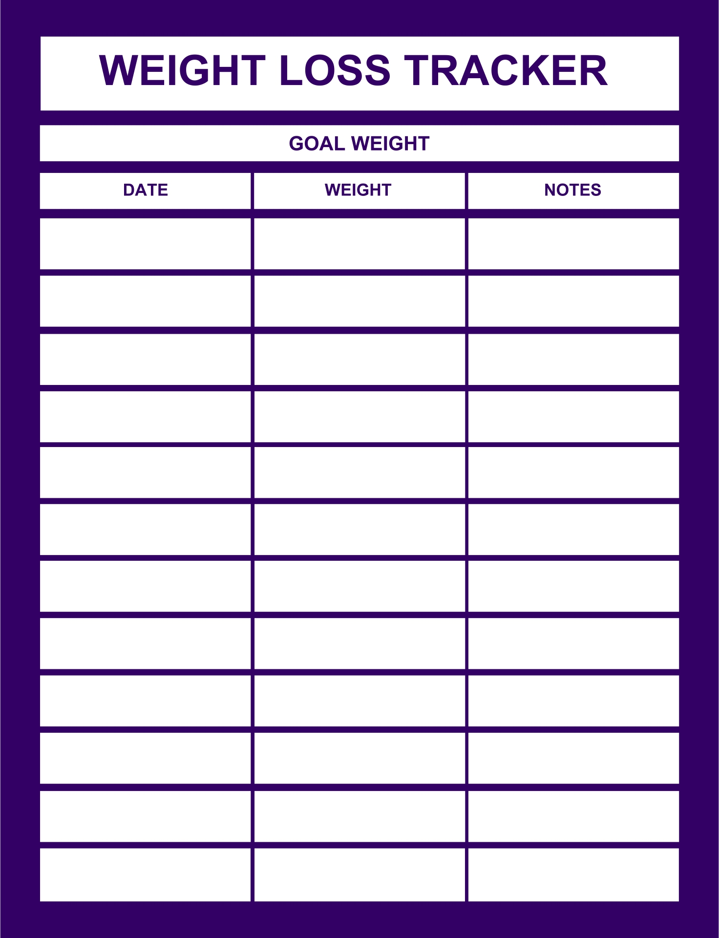 8 Images of Printable Weight Loss Log