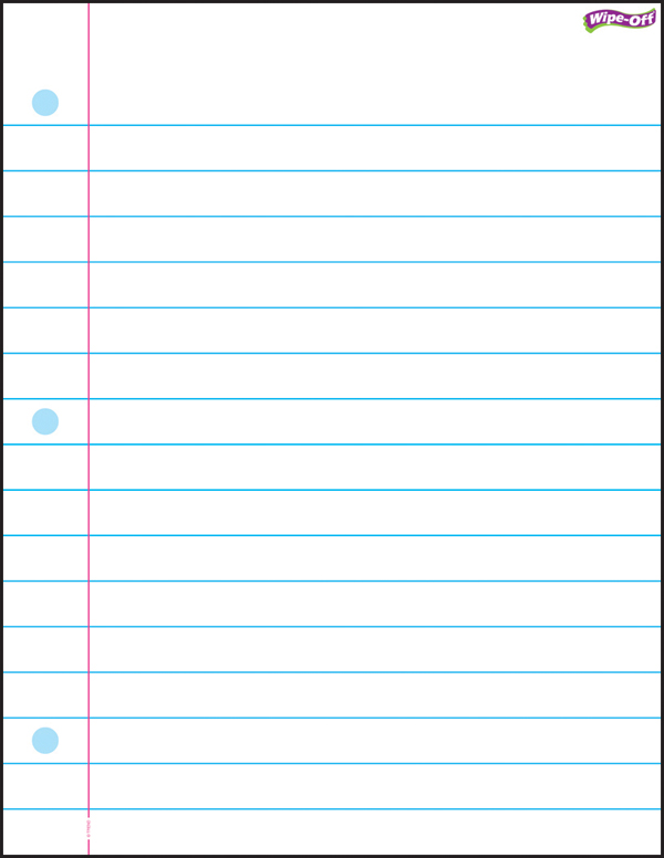 8 Images of Printable Wide Ruled Paper Template