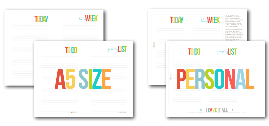 7 Images of Personal A5 Planner Printables