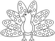 8 Images of Turkey Animal Dot Art Printables