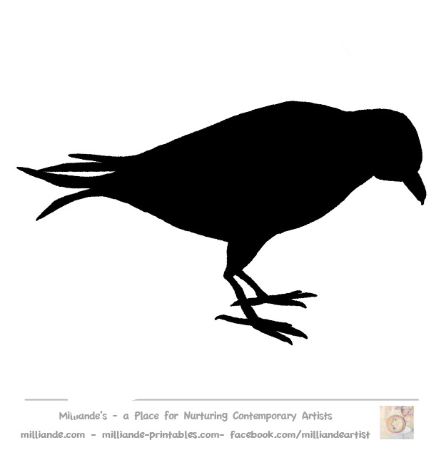 5 Images of Printable Crow Patterns