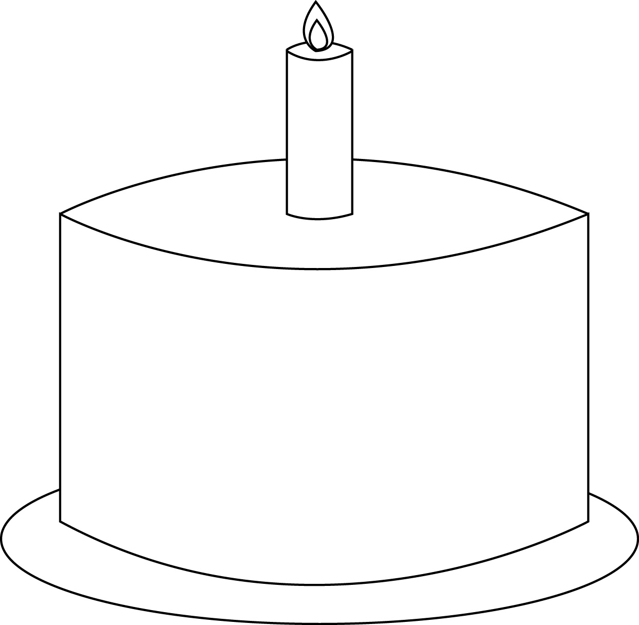 Printable Pictures For Cake : 5 Best Images of Birthday Cake Printable Template ...