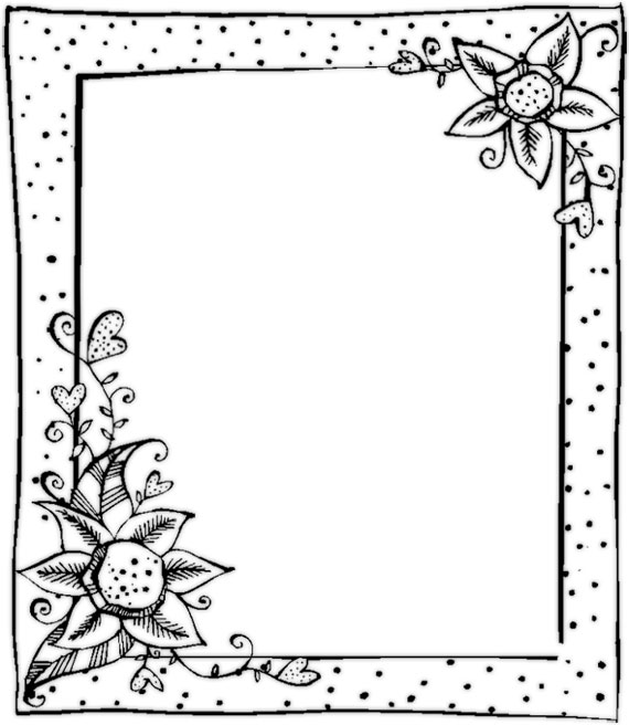4 Images of Christmas Printable Black And White Frames