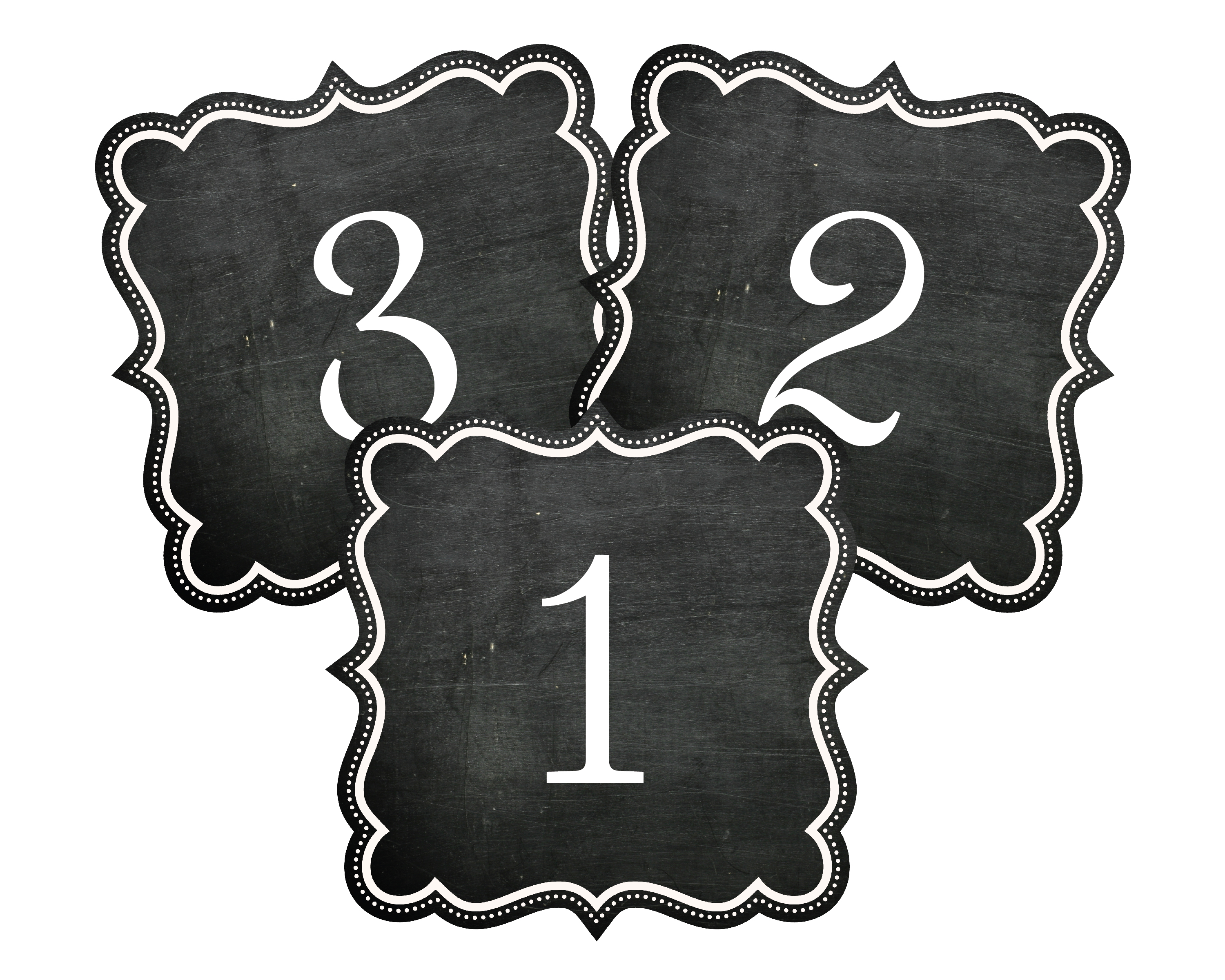 7 Images of Printable Chalkboard Table Numbers