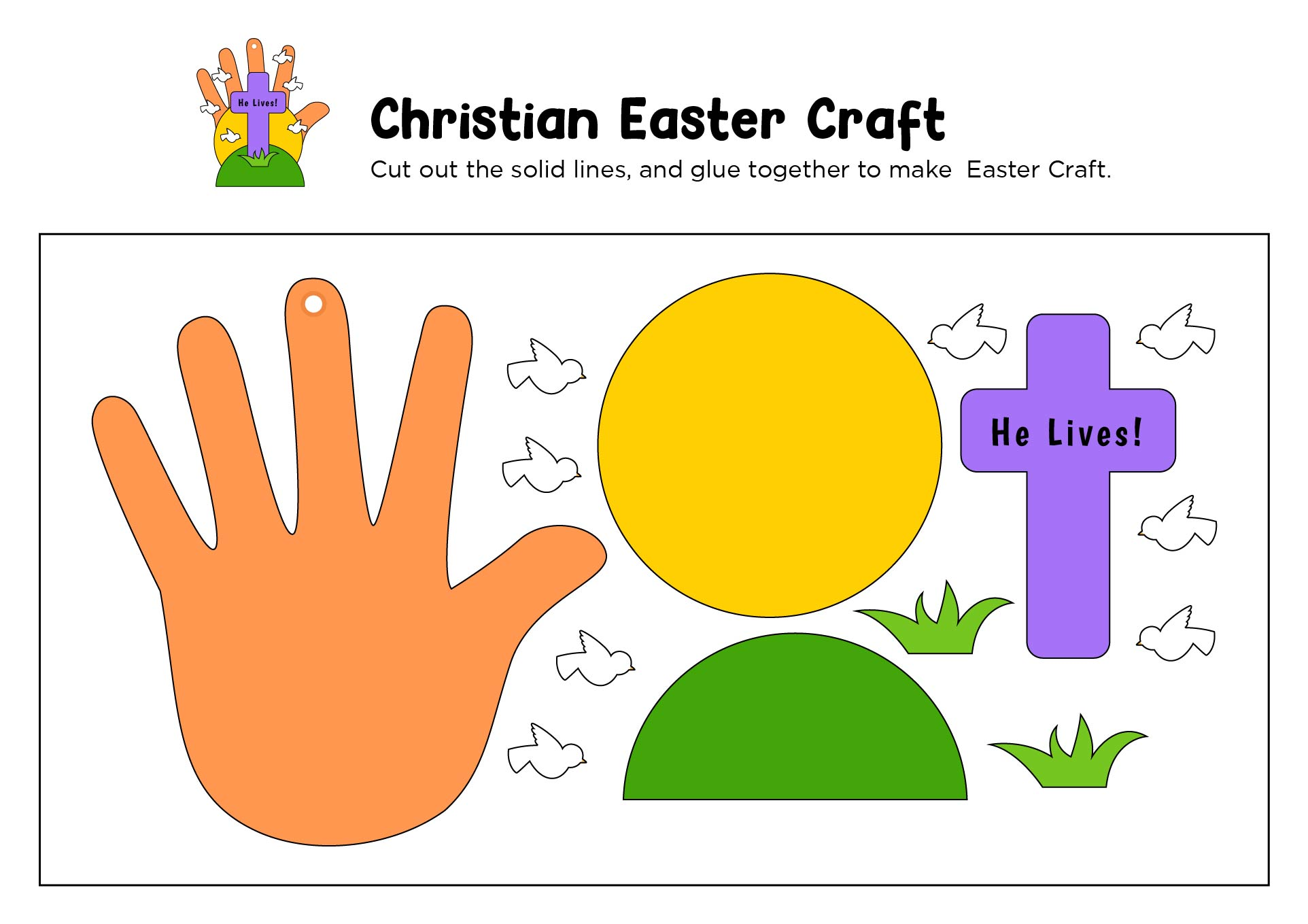 5 Images of Printable Religious Easter Crafts