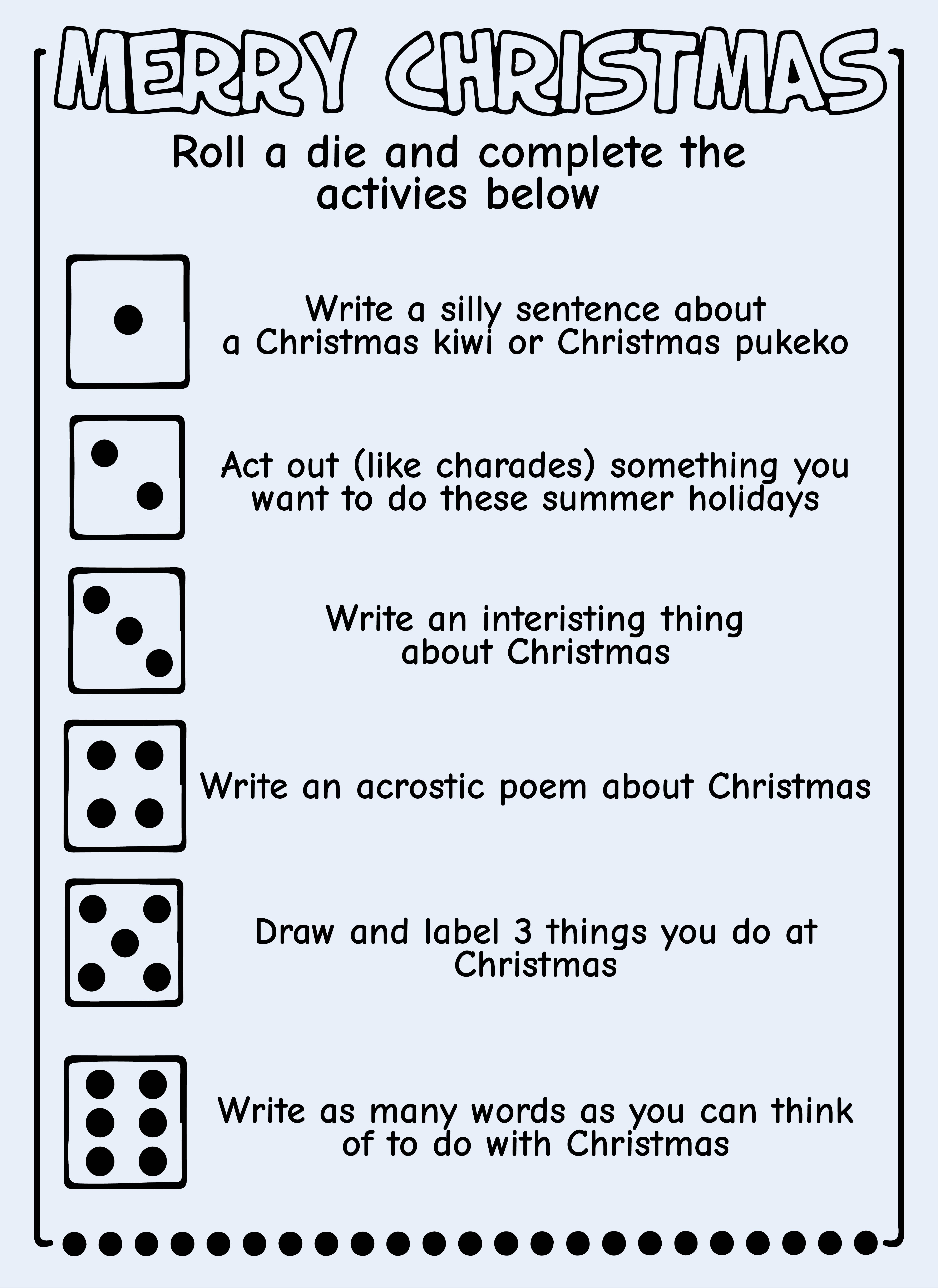 8 Images of Free Printable Christmas Activities