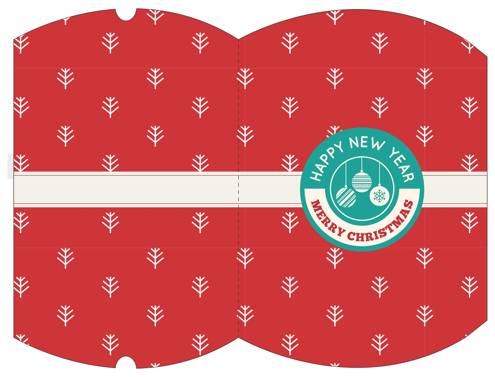 Christmas Box Template Printable