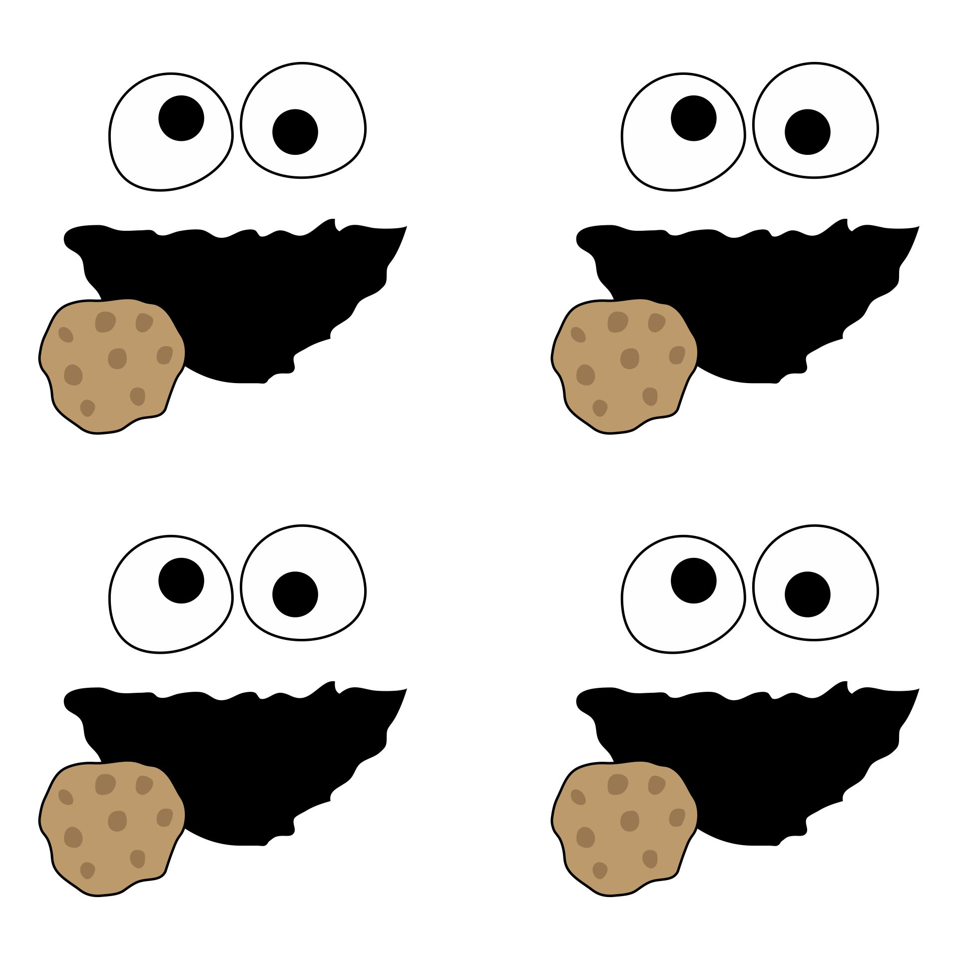Cookie Monster Template