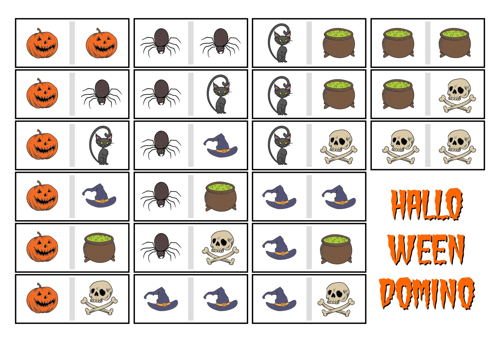 Domino Halloween Printable